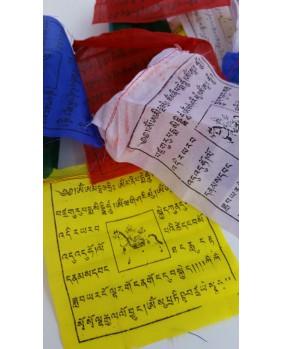 Drapeaux de Prieres Tibetains 19x19 cm