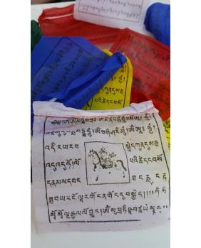 Drapeaux de prieres Tibetains 22x22 cm
